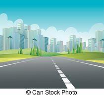 Main road clipart.