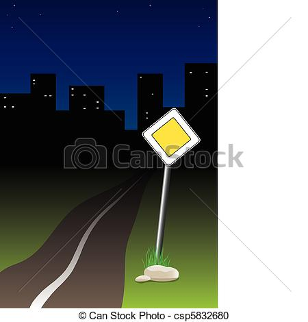 Vector Clipart of Night trip.