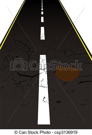 EPS Vectors of road pot hole.