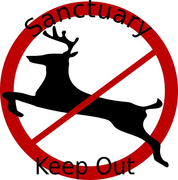 Deer Sanctuary Sign Clip Art at Clker.com.