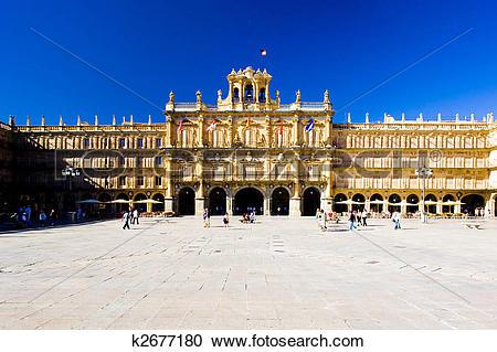 Stock Photography of Plaza Mayor (Main Square), Salamanca, Castile.