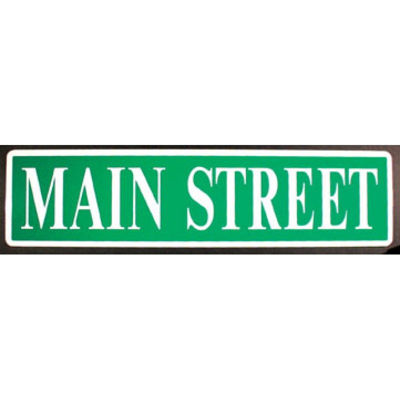 Main Street Sign Clipart.