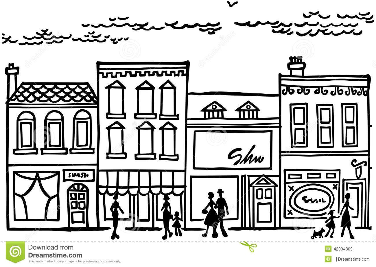 Main Street Clipart.