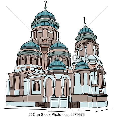 Vector of church.