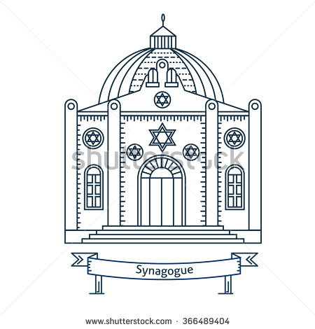Jewish temple clipart.