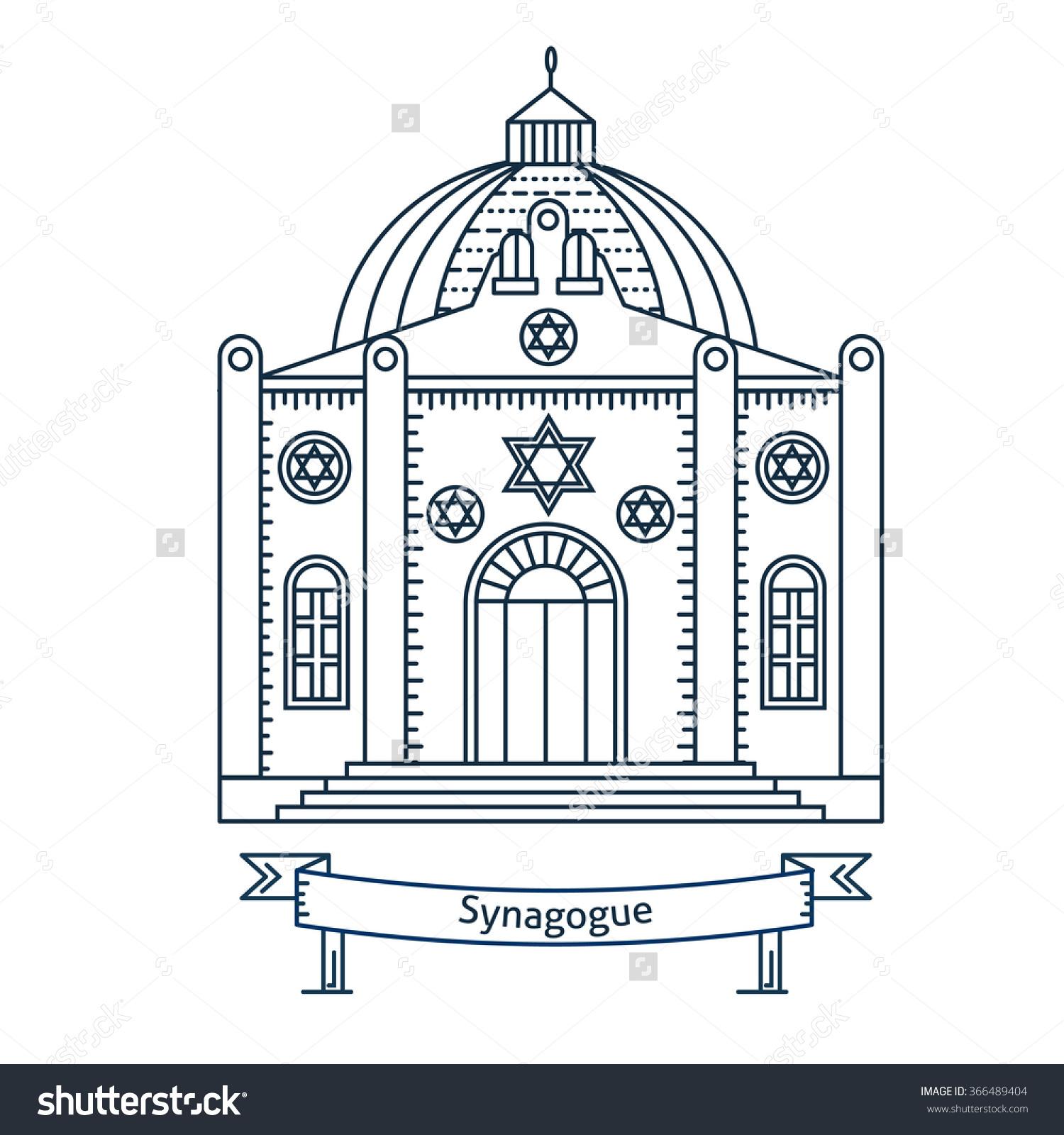 Line Art Jerusalem : New synagogue clipart clipground