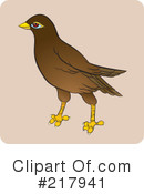 Maina Bird Clipart #1.
