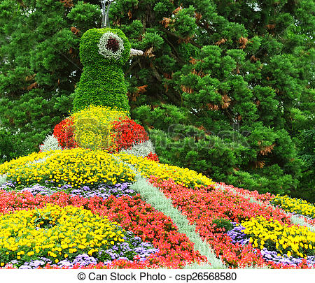 Pictures of flower garden. Island Mainau, Bodensee Germany.