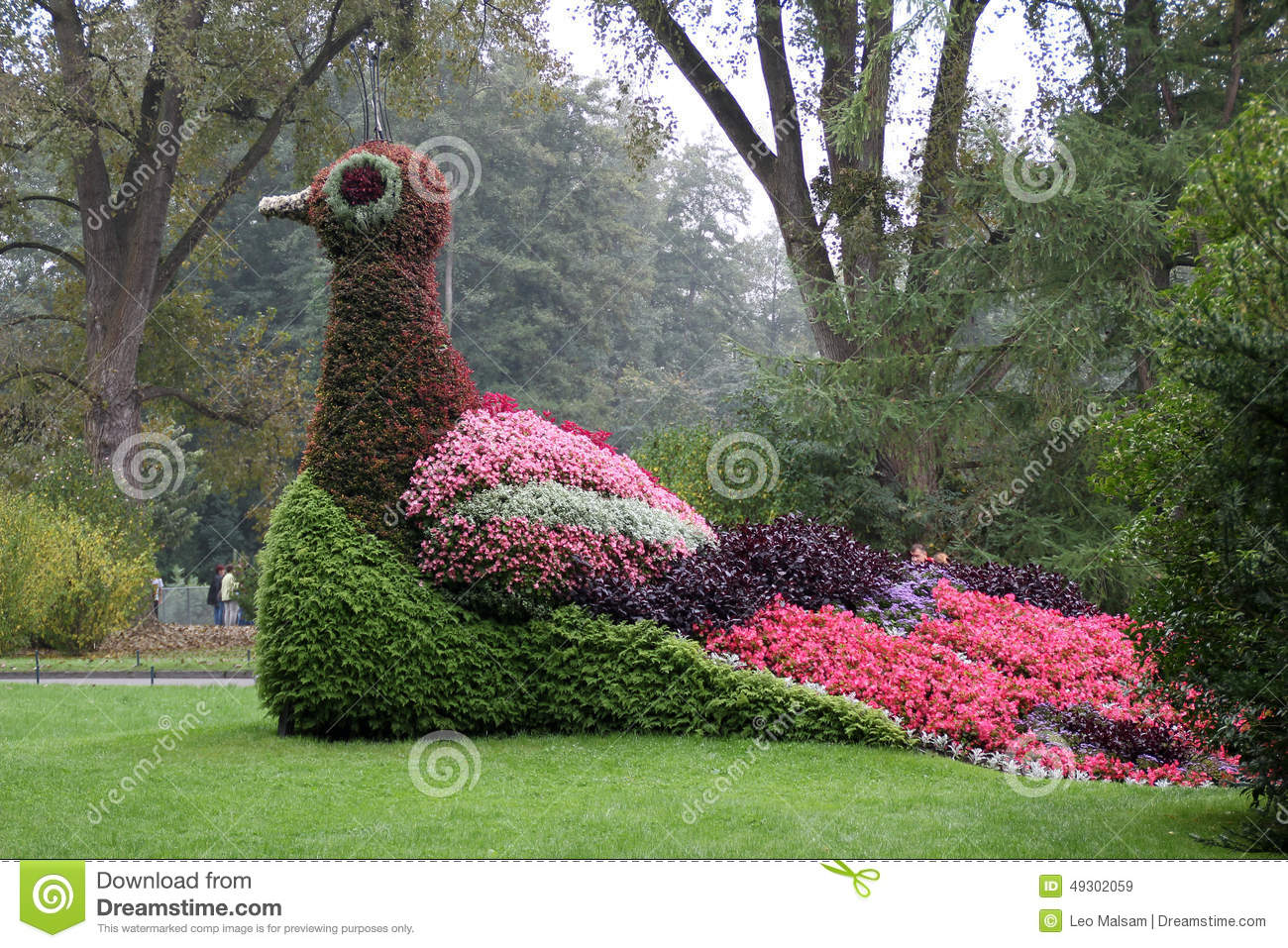 Flowerbed At Mainau Island In Lake Constance, Germany. Editorial.