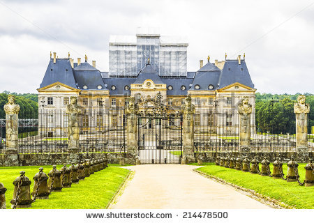 Chateau De Vauxlevicomte 1661 Baroque French Stock Photo 112135154.