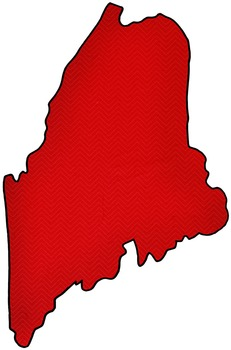Maine State Clip Art.
