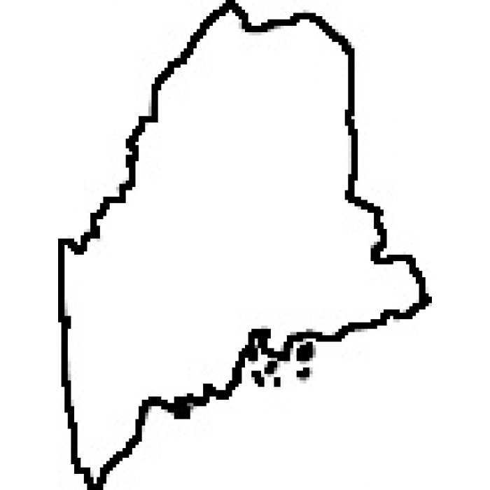 maine state map outline