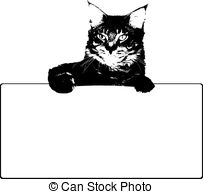 Maine coon Vector Clip Art EPS Images. 107 Maine coon clipart.