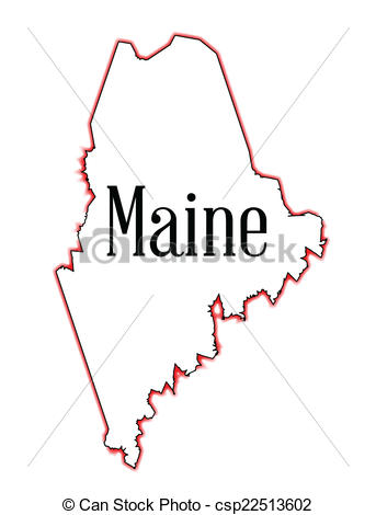 Vector Clipart of Maine.
