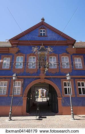 Stock Photograph of Franck House, Marktheidenfeld, Spessart.