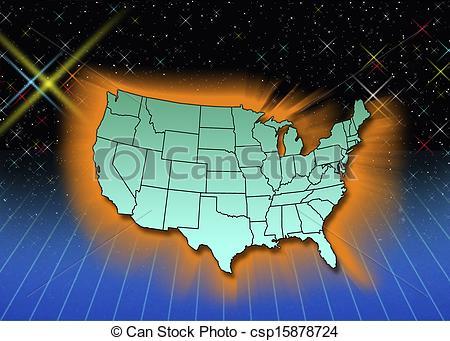 Clip Art of Mainland States.