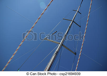 Stock Photos of Travel on a boat. The main mast yacht csp21694939.