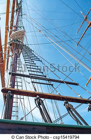Stock Photographs of rope ladder of the ship.