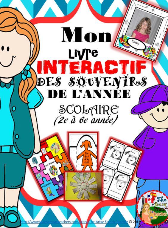 MON LIVRE INTERACTIF DES SOUVENIRS DE L'ANNÉE SCOLAIRE:{25+.