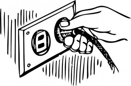 Pull Plug Clip Art, Vector Pull Plug.