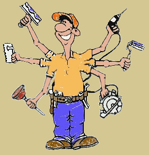 Old Maintenance Man Clipart.