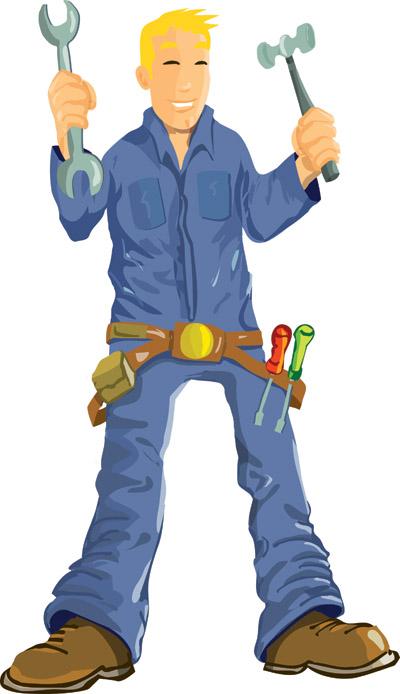 Maintenance Man Clip Art.