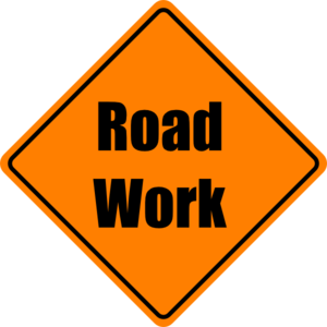 Construction clipart road repair, Construction road repair.