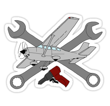 "GA Aviation Mechanic"" Stickers by JeepsandPlanes."