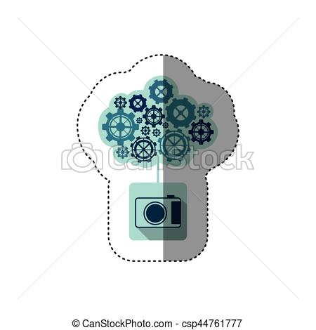 Vectors Illustration of color sticker with concept of maintenance.