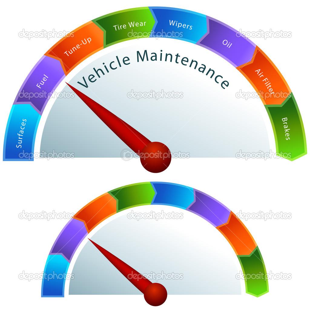Vehicle Maintenance Gauge — Stock Vector © cteconsulting #11576442.