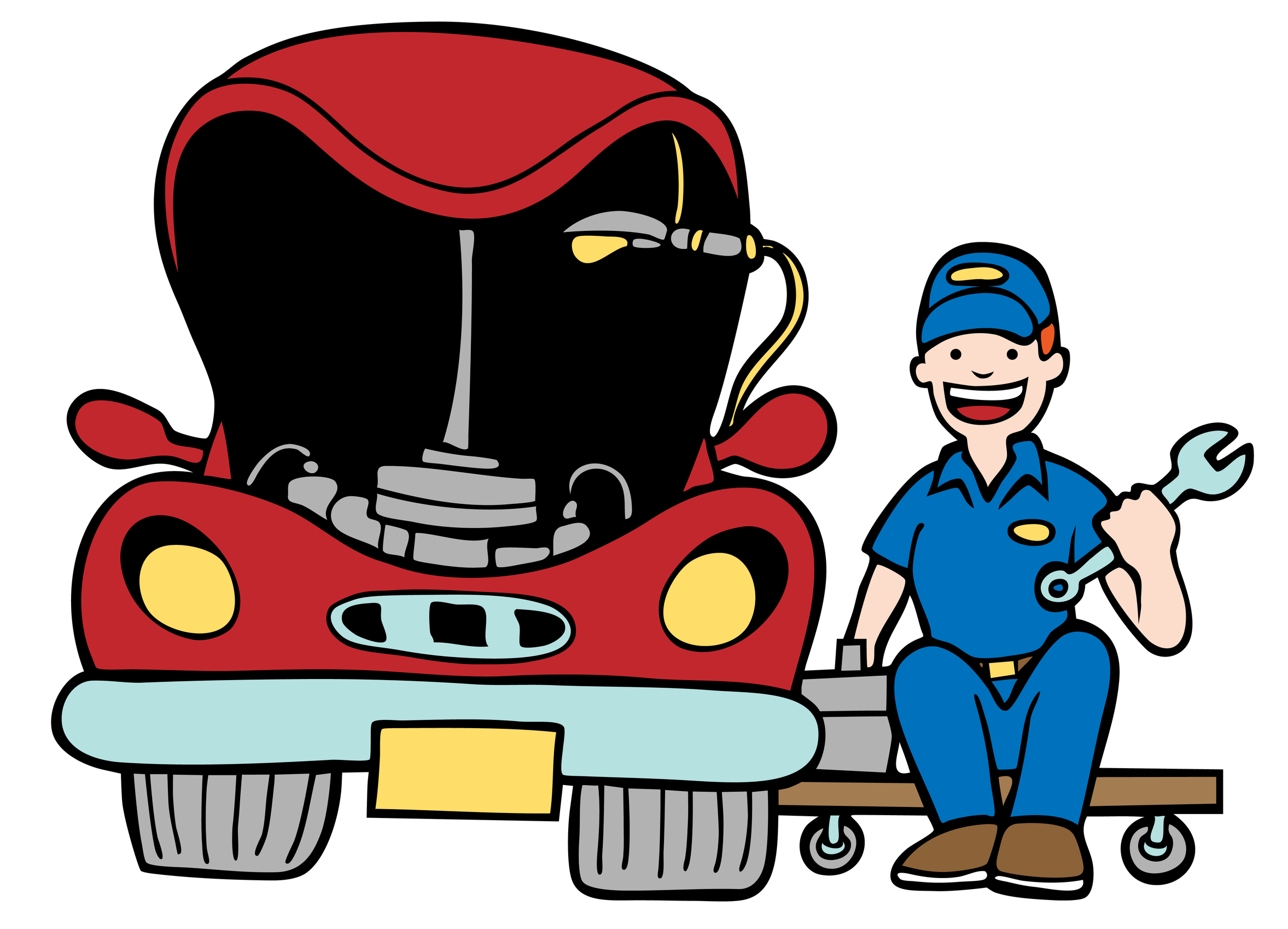 Maintenance vehicle clipart #16