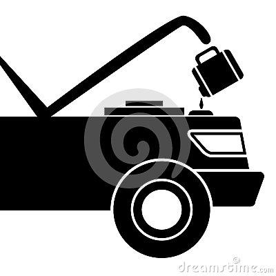 Car Maintenance Icon Stock Vector.