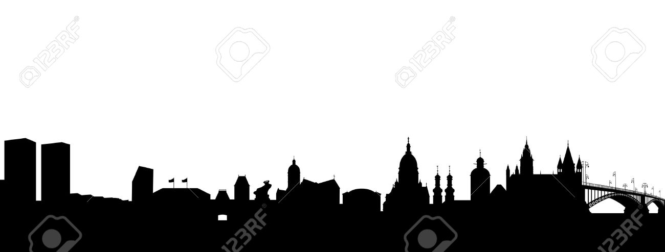 Mainz Skyline Abstract Royalty Free Cliparts, Vectors, And Stock.