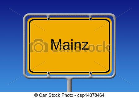 Stock Illustration of City Sign Mainz.