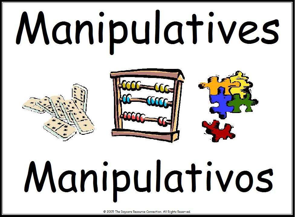 Maipulatives for 2 year olds clipart.