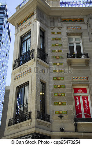 Stock Images of Clasic building on Maipu street.