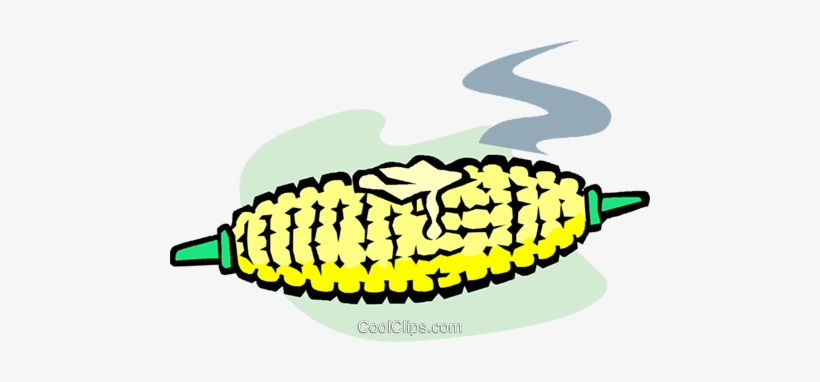 Corn On The Cob Royalty Free Vector Clip Art Illustration.