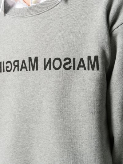 reversed logo oversized sweatshirt.
