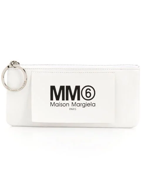 Logo Patch Purse in White.