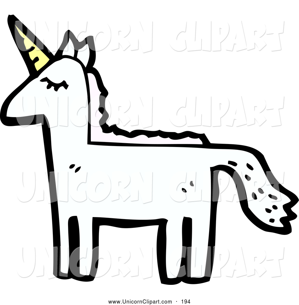 Fantasy Vector Clip Art of a Majestic Unicorn Looking Left by.