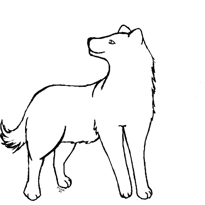 Wolf Outline.
