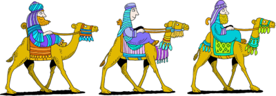 Image: Three Kings Riding on Camels.