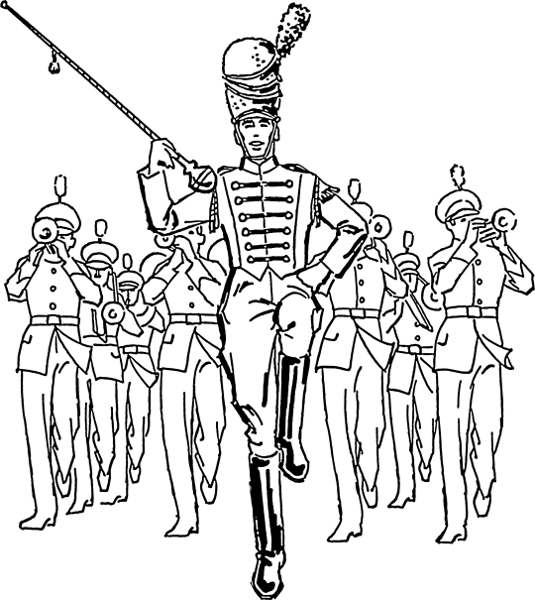 Drum Major Clipart.