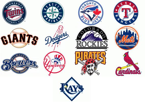 Baseball Team Logos Clipart.