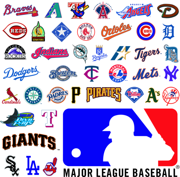 Major League Baseball Logos (PSD).