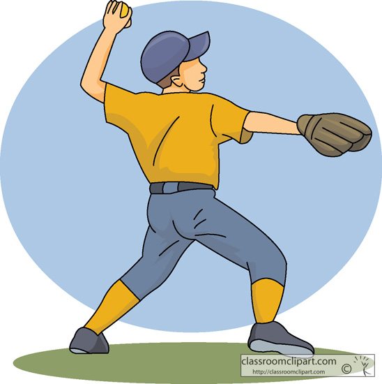 Major league baseball pitcher clipart #8
