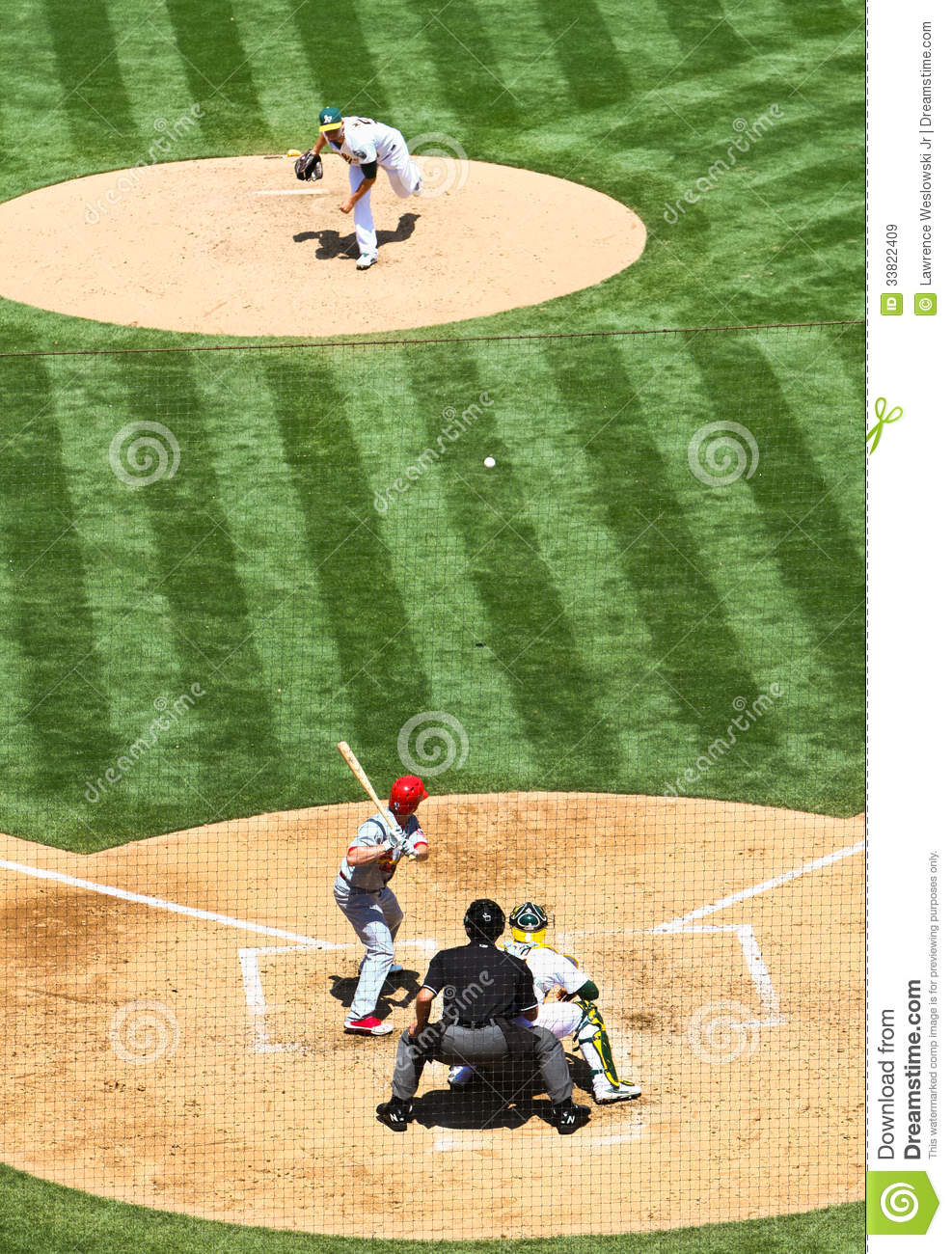 Major League Baseball Pitcher Vs Batter Editorial Stock Image.