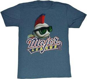 Details about Major League Movie Red Mowhawk Baseball Movie Logo Adult T  Shirt.
