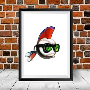 Details about Major League Movie Logo Baseball Cleveland Indians World  Series Gift Art Print.