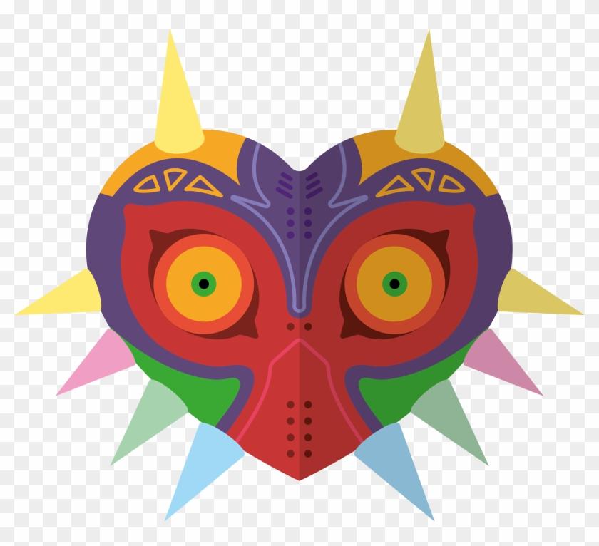 Illustration Of Majora's Mask From The Legend Of Zelda.